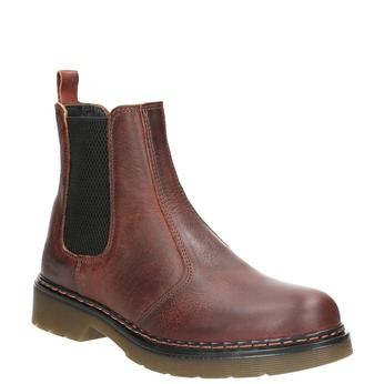 Ladies' leather Chelsea boots bata, brown , 596-3680 - 13
