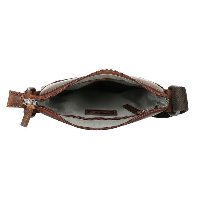 Men's leather crossbody bag, brown , 964-4140 - 15