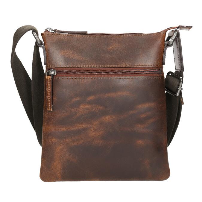 Men's leather crossbody bag bata, brown , 964-4140 - 17