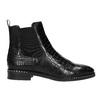 Ladies' textured  leather Chelsea boots bata, black , 596-6678 - 15