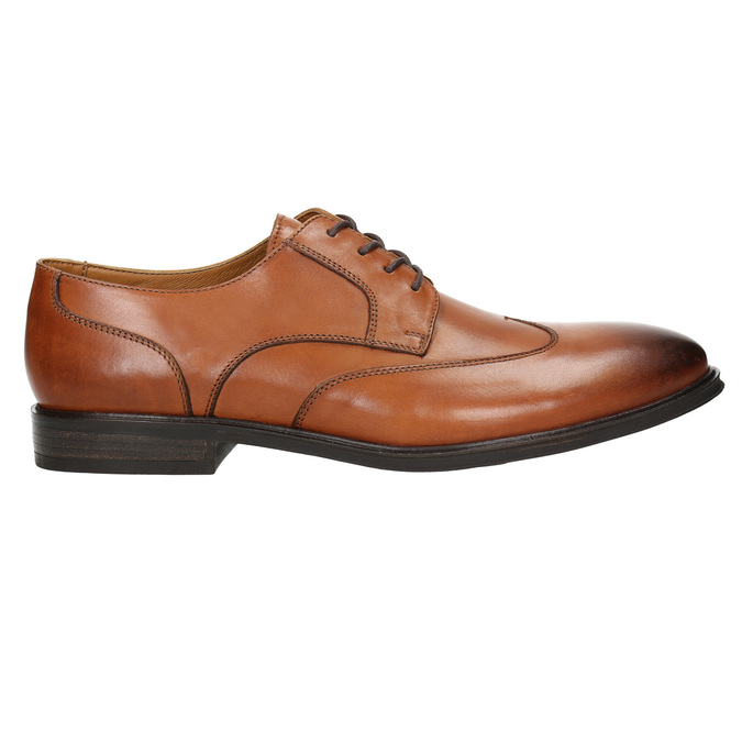 Men's leather Ombré shoes bata, brown , 826-3914 - 15