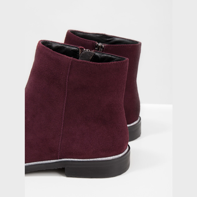 Brushed leather ankle boots bata, red , 593-5603 - 14
