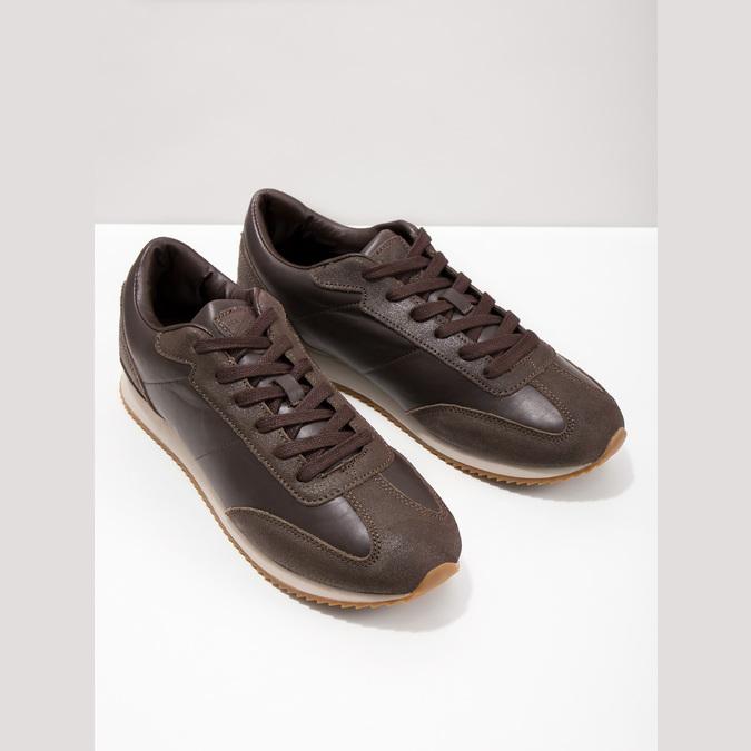 Men's Casual Sneakers, brown , 801-3180 - 18