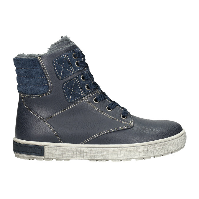Children's Leather Ankle Boots mini-b, blue , 494-9655 - 15