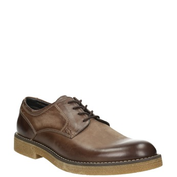 Brown Leather Shoes bata, brown , 826-4620 - 13