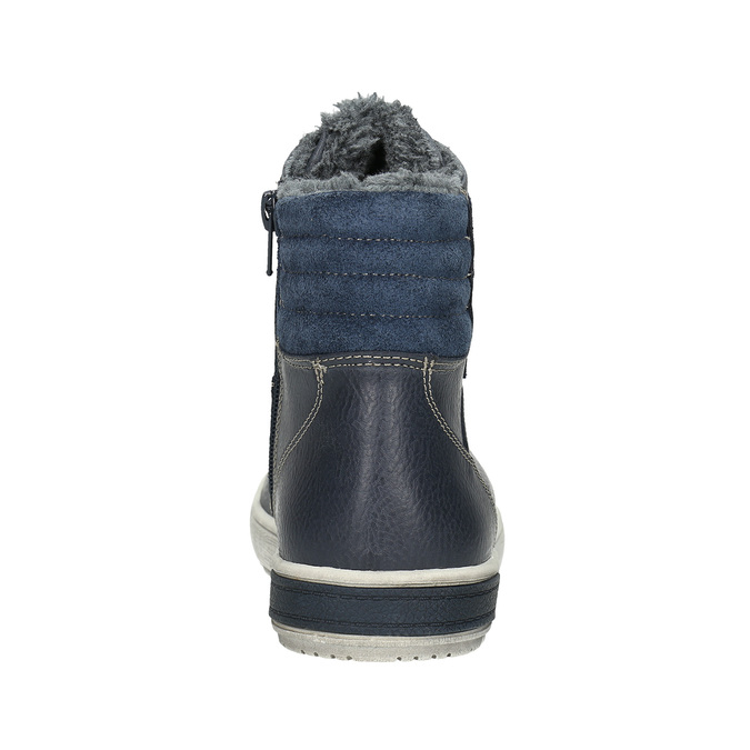 Children's Leather Ankle Boots mini-b, blue , 494-9655 - 17