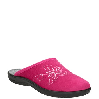 Ladies' Pink Slippers bata, red , 579-5621 - 13
