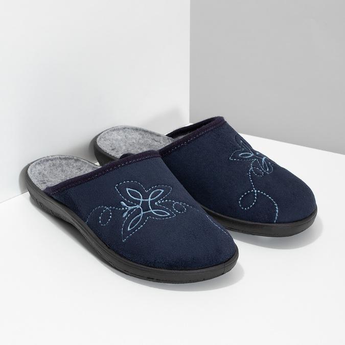 Ladies' Blue Slippers bata, blue , 579-9621 - 26