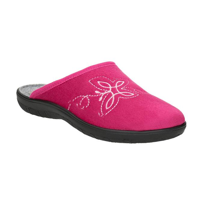 Ladies' Pink Slippers bata, pink , 579-5621 - 13