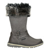 Girls' Leather High Boots with Fleece mini-b, gray , 396-2191 - 26