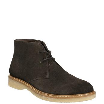 Ladies' Leather Chukka Boots bata, brown , 593-4608 - 13