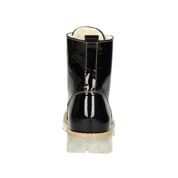 Patent leather ankle boots with massive sole weinbrenner, black , 598-6604 - 16