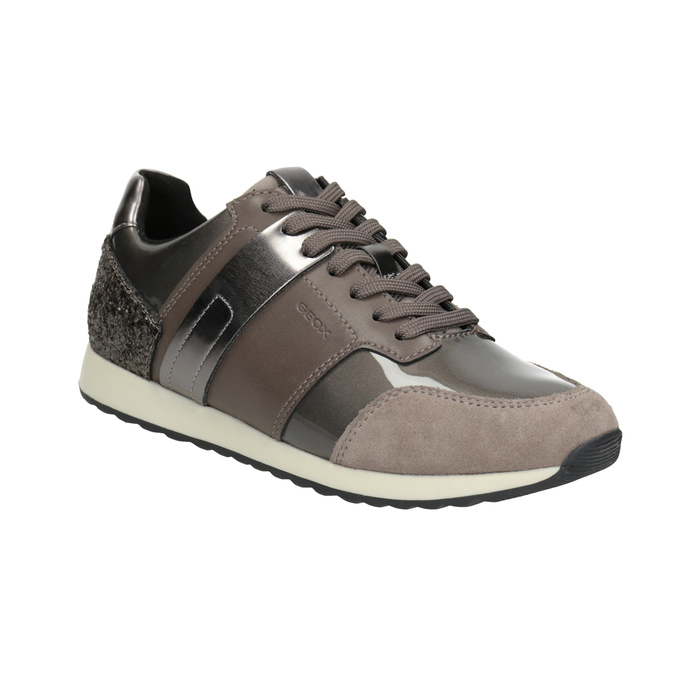 Sneakers with Glitter geox, brown , 621-8045 - 13