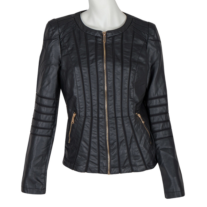 Ladies' Jacket with Gold Accents bata, black , 971-6204 - 13