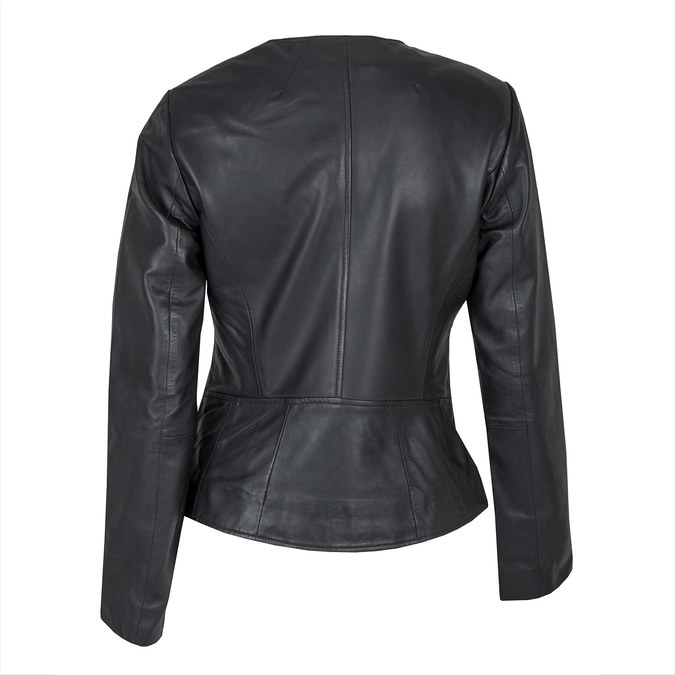 Ladies' Leather Jacket, black , 974-6177 - 26