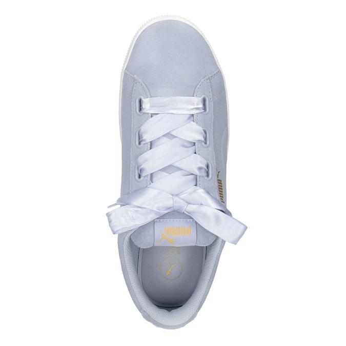 Ladies' Leather Sneakers puma, blue , 503-9169 - 15
