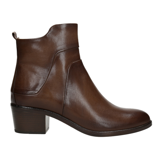 High ankle boots with stable heel bata, brown , 696-4654 - 26