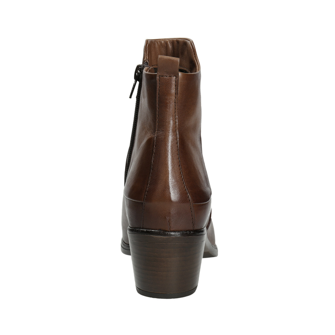High ankle boots with stable heel bata, brown , 696-4654 - 16