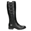 Leather High Boots with Elastic Panel bata, black , 596-6655 - 15