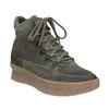 Ladies' leather flatform shoes bata, gray , 596-2673 - 13