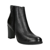 Leather Ankle Boot with Heel bata, black , 794-6642 - 13