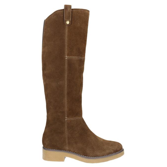 Ladies' Winter High Boots bata, brown , 593-4606 - 26