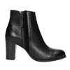 Leather Ankle Boot with Heel bata, black , 794-6642 - 15