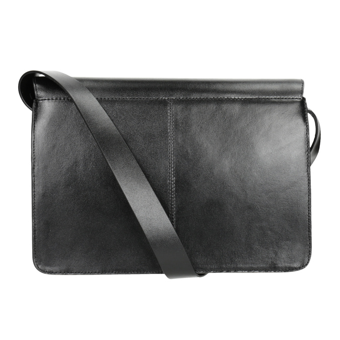 Black Leather Crossbody Bag vagabond, black , 964-6086 - 16