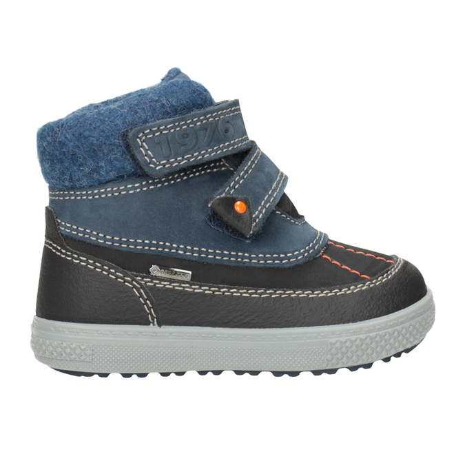 Children's Leather Winter Boots primigi, blue , 196-9006 - 26