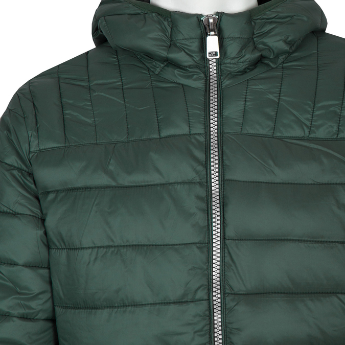 Men's Quilted Jacket with Hood bata, green, 979-7143 - 16