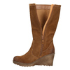 Brown Leather High Boots bata, brown , 793-4607 - 26