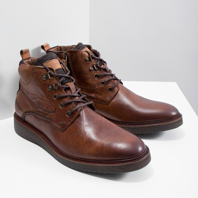 Leather Ankle Boots bata, brown , 896-3675 - 18