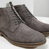 Men's leather ankle boots bata, gray , 823-2615 - 14