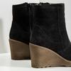 Ladies' Leather Wedge Boots bata, black , 793-6608 - 14