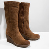 Brown Leather High Boots bata, brown , 793-4607 - 18