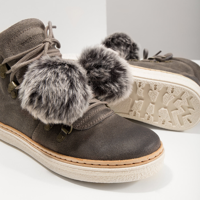 Ladies' Lace-Up Winter Boots weinbrenner, gray , 596-2674 - 18