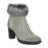Leather High-Heeled High Boots manas, gray , 793-2610 - 13