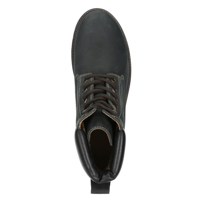 Men's leather winter boots weinbrenner, black , 896-6656 - 26