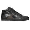 Men's Leather High Top Sneakers bata, black , 844-6644 - 26