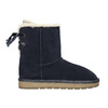 Ladies' Casual Leather Boots bata, blue , 593-9604 - 15