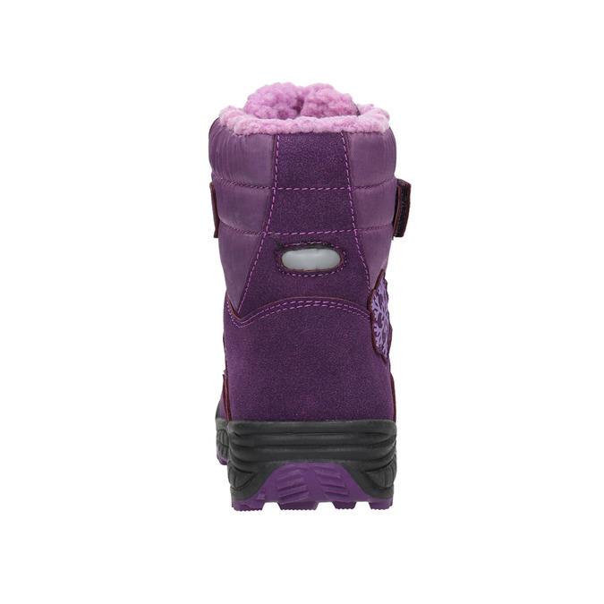 Girls' Purple Snow Boots mini-b, violet , 291-9625 - 17