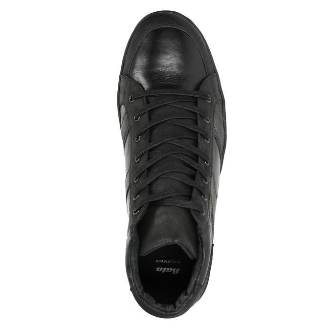 Men's Leather High Top Sneakers bata, black , 844-6644 - 15