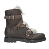 Ladies' Leather High Boots with Fur bata, brown , 594-4656 - 26