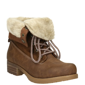 Ankle Boots with Fleece bata, brown , 591-4618 - 13