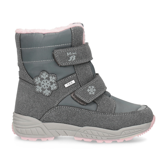 Girls' Snow Boots with Fleece mini-b, gray , 291-2625 - 19