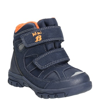 Children's Winter Boots with Hook-and-Loop Closures mini-b, blue , 291-9626 - 13