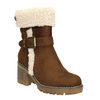 Ladies' Winter Boots with Buckle bata, brown , 699-4637 - 13