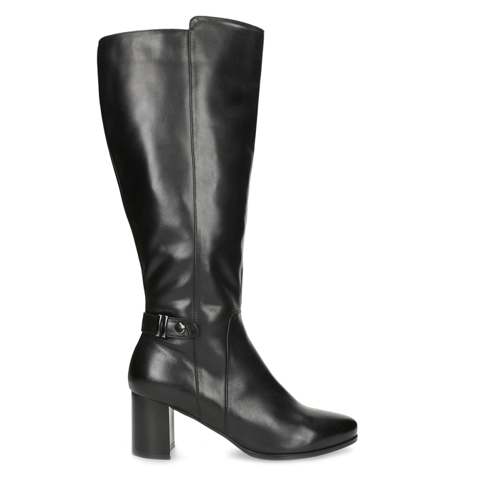 Ladies' Leather High Boots bata, black , 694-6639 - 19