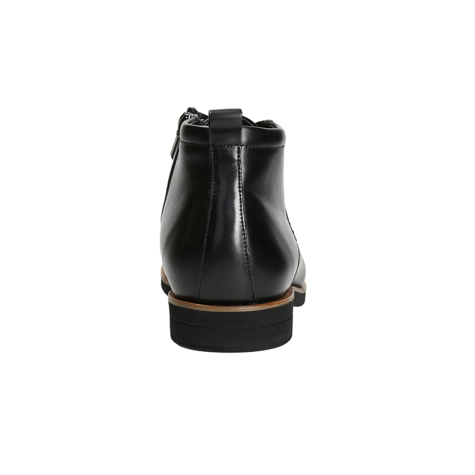 Men's leather ankle boots conhpol, black , 894-6696 - 16