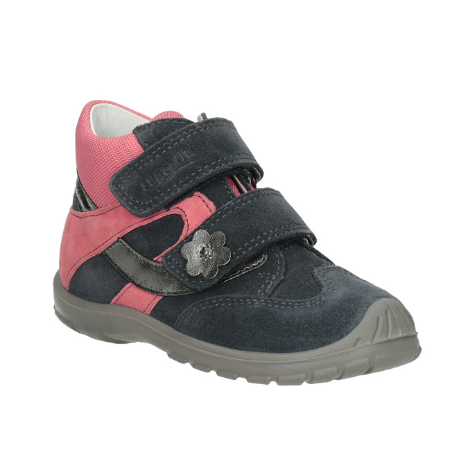 Girls' leather ankle boots, gray , 123-2035 - 13